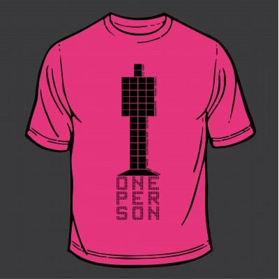 T-Shirt - Totem (Pink) Black